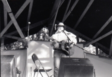 Bill Staines performs at the 1997 festival.