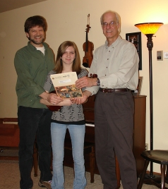 Fifteen year-old fiddle player Sonja Prychitko was the first recipient of the HMC Youth Scholarship in 2006.